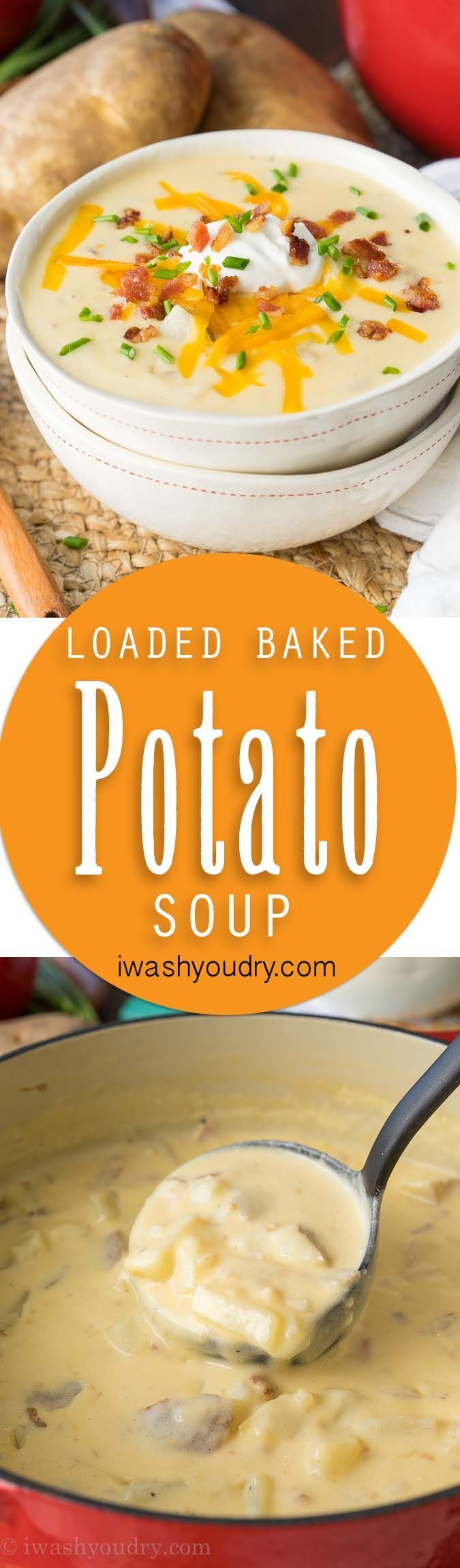 This Loaded Baked Potato Soup is a super quick and creamy version. My whole family devoured this delicious recipe!