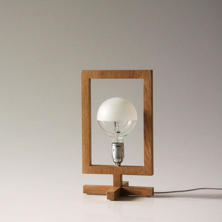 Table lamp / contemporary / oak / halogen HE, SHE, IT by Stefano Mazzucchetti ARKOF