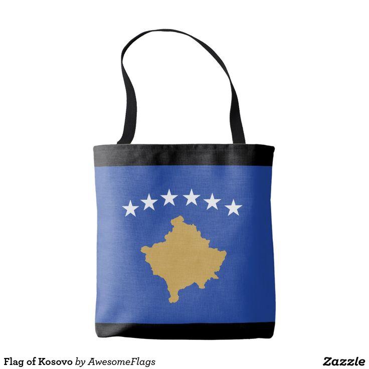 Flag of Kosovo Tote Bag