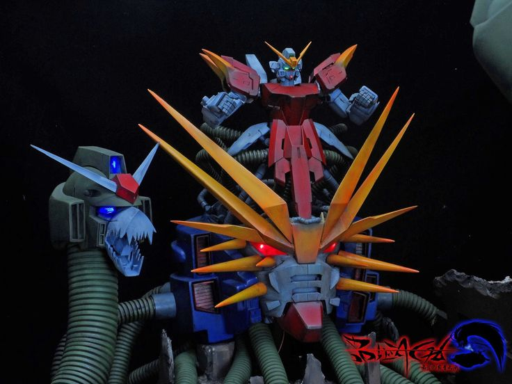 Devil Gundam Vs. God Gundam Light of Hope Diorama | Gundam Century