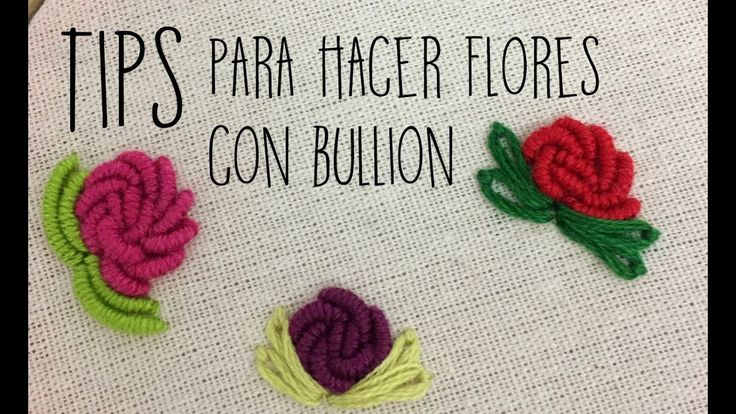 :::TIPS para hacer flores con BULLION:::