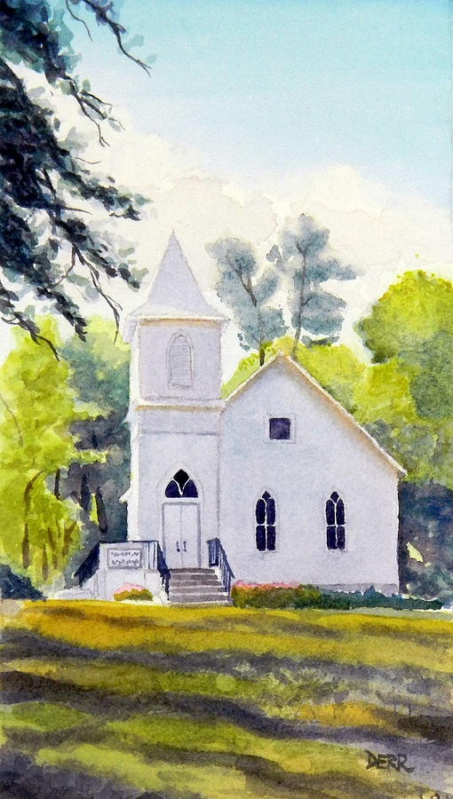 Old Church Paintings | Old Country Church Painting by Todd Derr - Old Country Church Fine Art ...