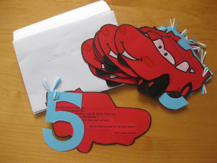 cars invitation cards