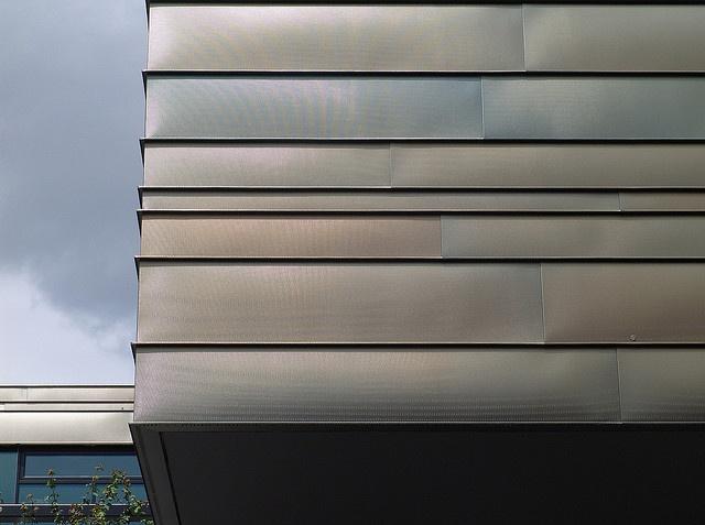 Beautiful zinc cladding (I think) on an Education Center by Detlef Schobert, via Flickr