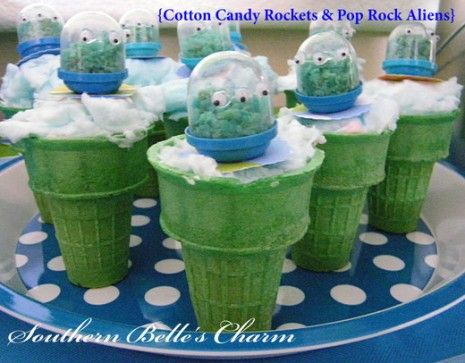 Toy Story Party IdeasCotton Candy, Spaces Parties, Birthday Parties, Ice Cream Cupcakes, Cotton Candies, Parties Ideas, Toys Stories, Birthday Ideas, Ice Cream Cones
