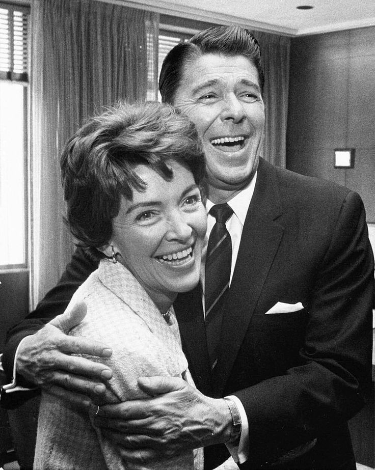 402010 02: Former U.S. President Ronald Reagan and First Lady Nancy Reagan share a laugh in this undated file photo. The couple celebrated their 50th wedding anniversary on March 4th 2002. (Photo courtesy Ronald Reagan Presidental Library/Getty Images)