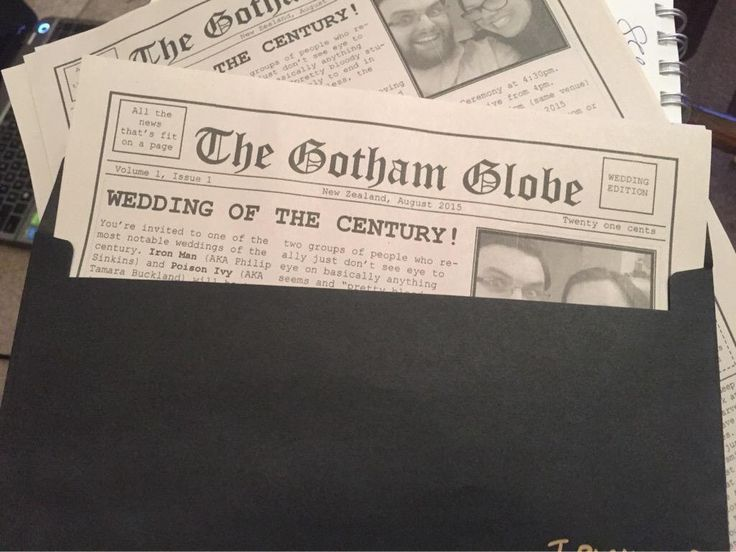 Custom made invitations in the style of 1950s superhero vs villain theme. These turned out so well!