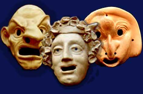 Museo Nazionale di Taranto, tra i più ricchi di reperti archeologici della Magna Grecia e della protostoria. Le maschere teatrali della commedia