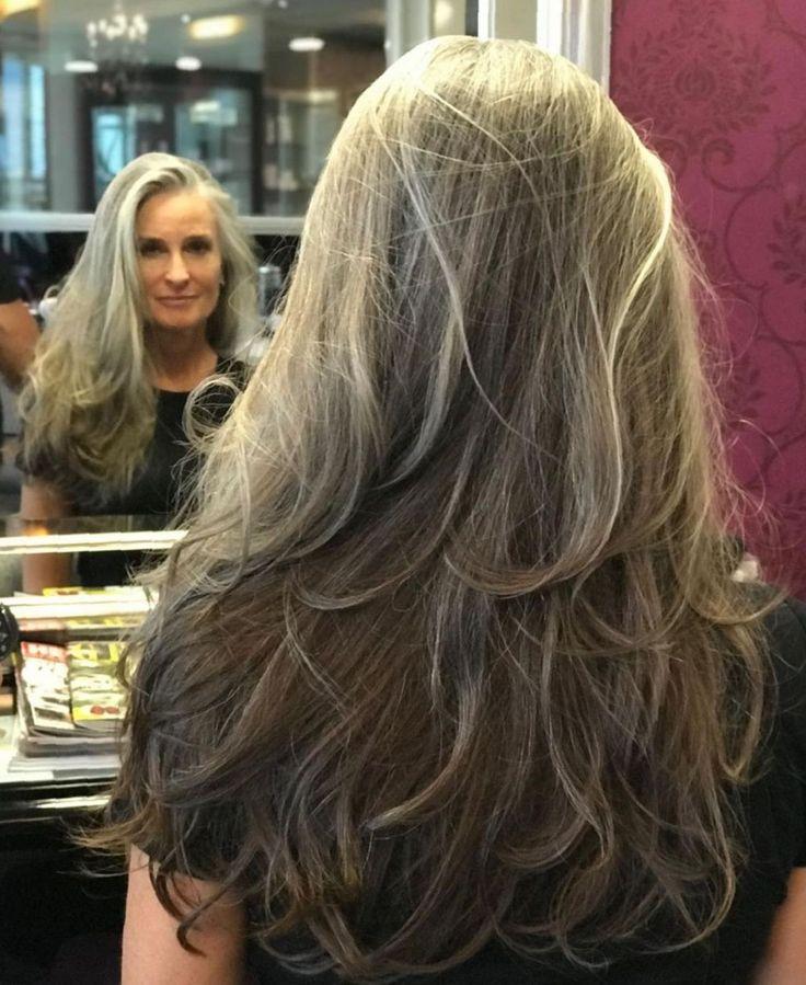 65 Gorgeous Gray Hair Styles Long Gray Hair Long