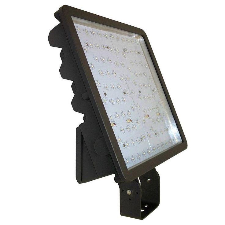 262watt bronze integrated led outdoor flood light bracket mount