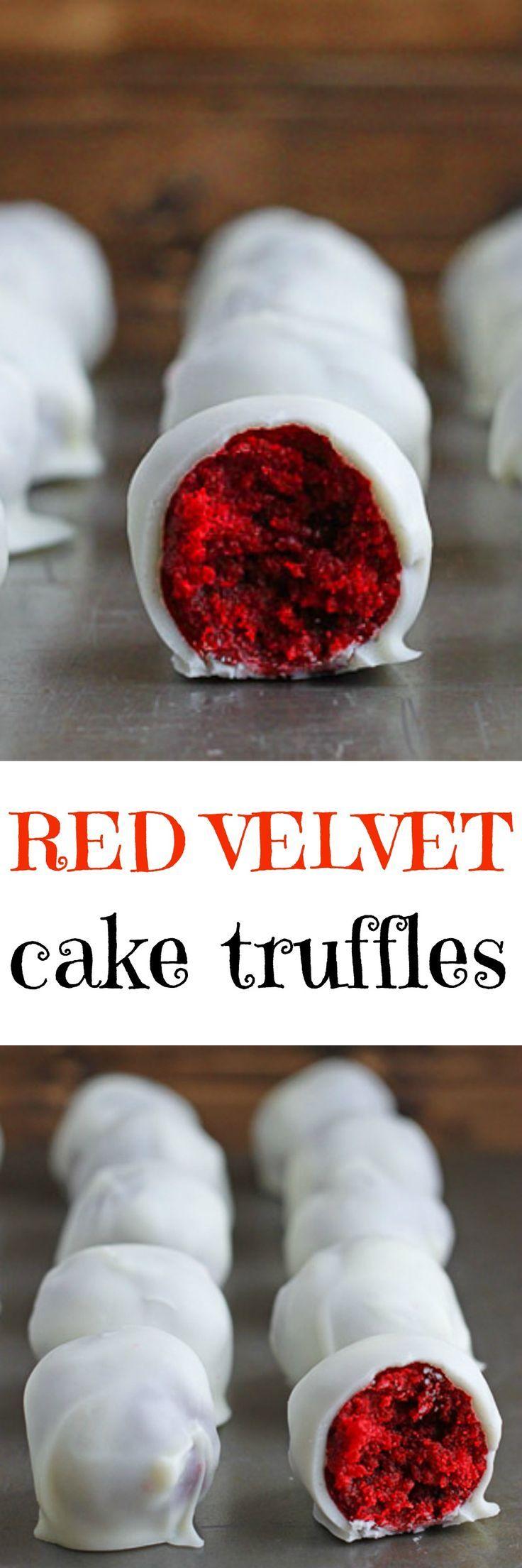 DIY cake truffles! With red velvet for Christmas dessert buffet tables!