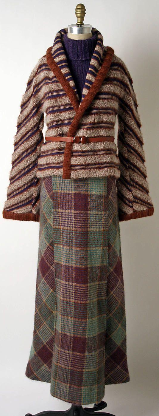 Ensemble Missoni; (Italian, founded 1953) Date: fall/winter 1973–74 Culture: Italian Medium: wool
