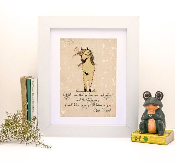 30% OFF Unicorn quote 'if you'll believe in me I'll by holli