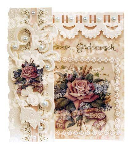 Romantische Faltkarten, Antike Rosen