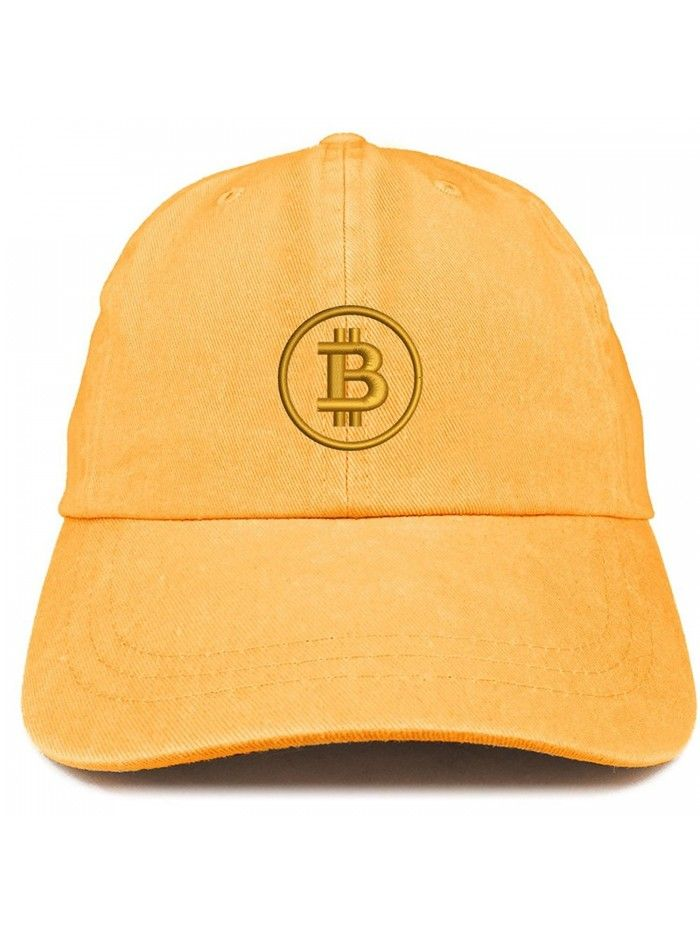 Bitcoin Embroidered Washed Cotton Adjustable Cap Mango Cb185luk7xn Adjustable Cap Suede Baseball Cap Hats For Men
