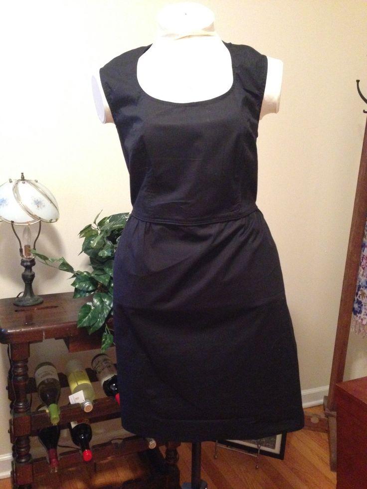 eShaki sheath black dress with cap sleeves, size 18, $28