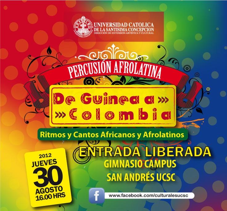 "Percusión Afrolatina en Campus San Andrés ""De Guinea a Colombia"". Ritmos y Cantos Afrolatinos."