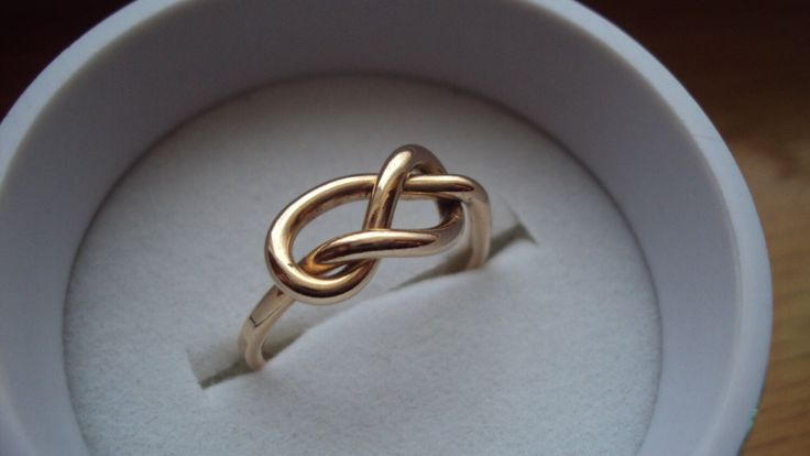 Etsy jewelry, knot ring, infinity knot, 14kt gold filled, handmade, 16g, one ring