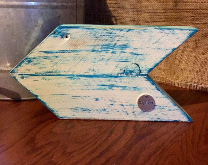 Rustic Chevron Wooden Arrow Sign / Wood Arrow sign / Dream sign / inspirational sign/ home decor