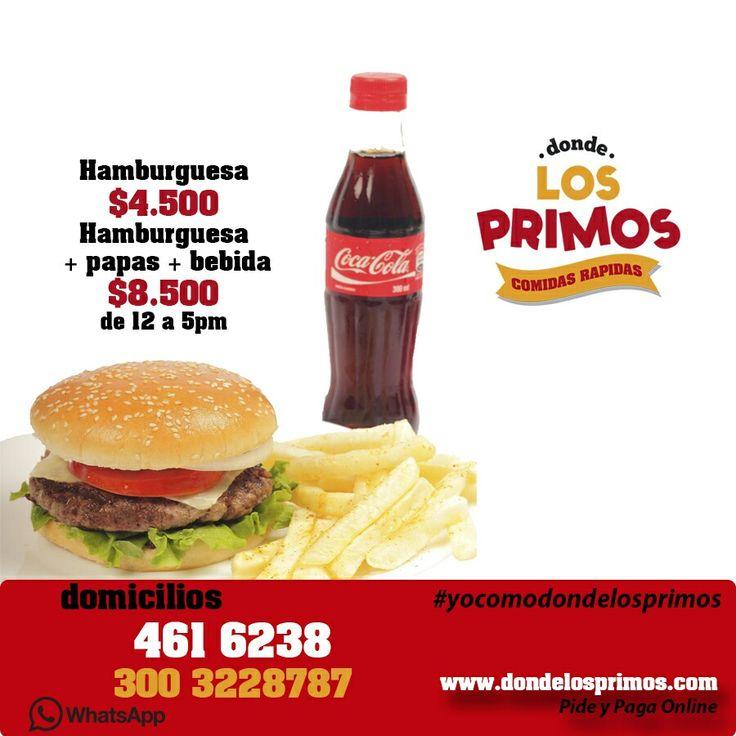 La Mejor Promoción. No te la pierdas. #yocomodondelosprimos #foodporn #cedritos #bogota #mazorcadesgranada #comidarapida #hamburguesa #culturacosteña #costeños #bacon #domicilios #burger #comida #mazuren #pinchodesgranado #calidad #colinacampestre