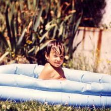 Baby Marion Bartoli in a pool