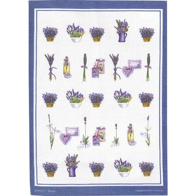 Kracht Geschirrtuch Lavendelkörbe aus Halbleinen