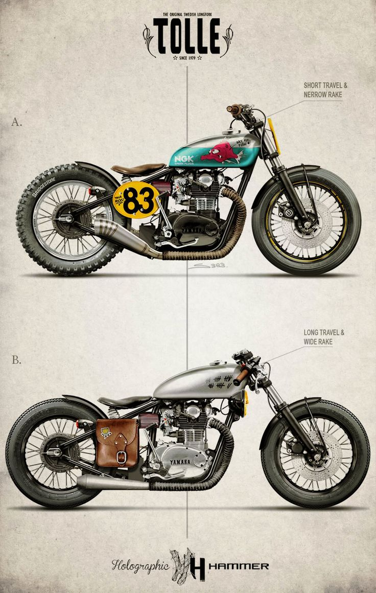 Tolle Engineering Yamaha XS650 by Holographic Hammer