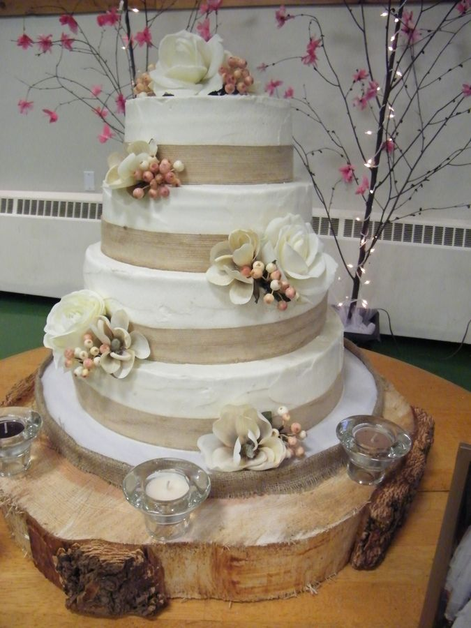 102 Best Cakes Burlap And Lace Images On Pinterest