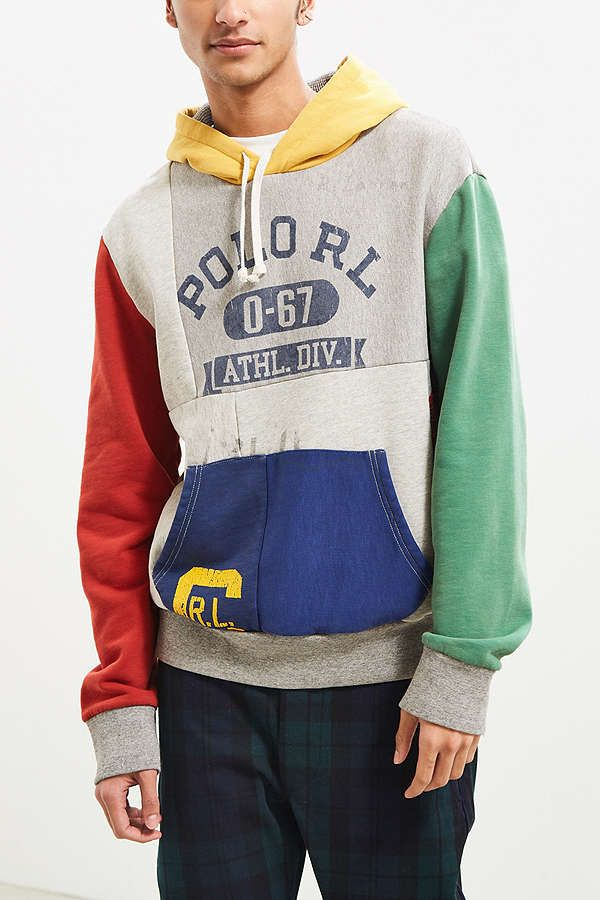 4747300da2a359 Shop Polo Ralph Lauren Patchwork Hoodie Sweatshirt at Urban Outfitters  today. We carry all the latest styles, colors and brands for you to choose  from right ...