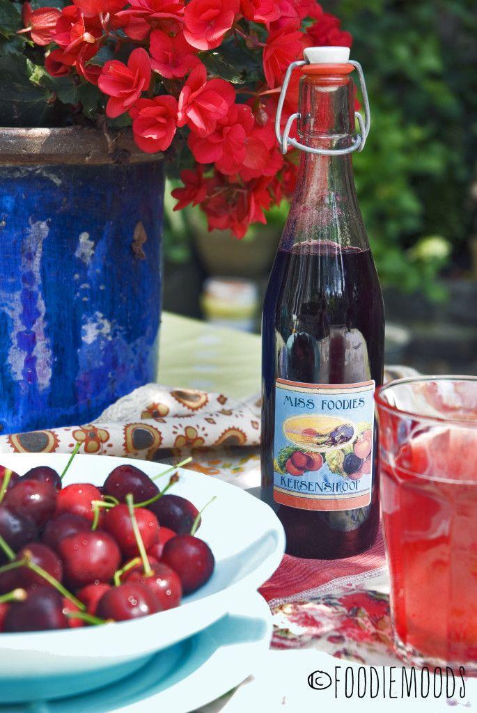recept kersensiroop kersentijd miss foodie - met Zonnigfruit