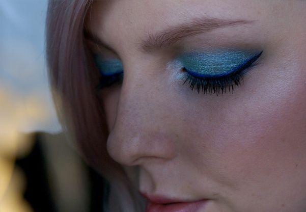 Lehce Netradiční Oceánové Líčení Makeup Tutorial