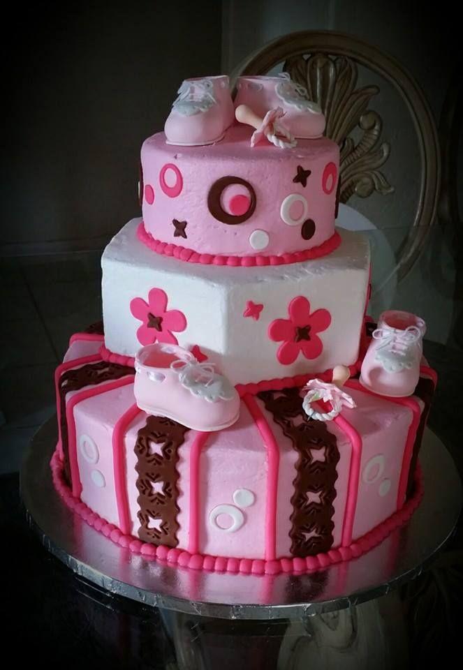 Twins Baby Shower Cake   *