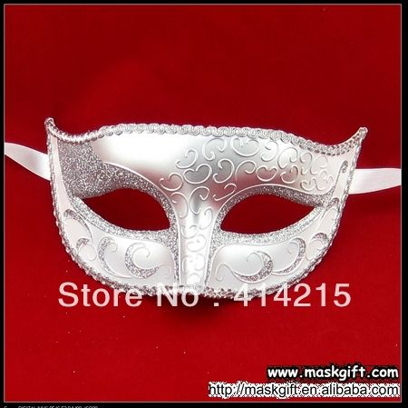 New Arrival Wholesale 100% Handpainted White And Silver Wedding Party Mask For Wed Masquerade Ball $125.00