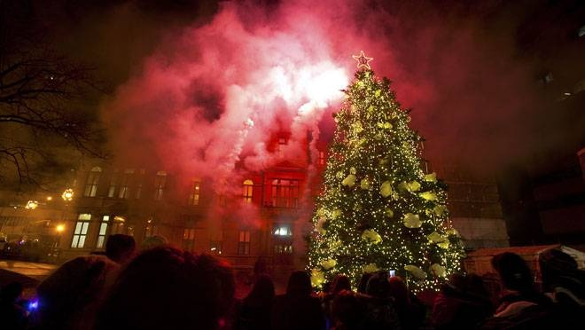 Lighting of the Christmas tree on Halifax's Grand Parade