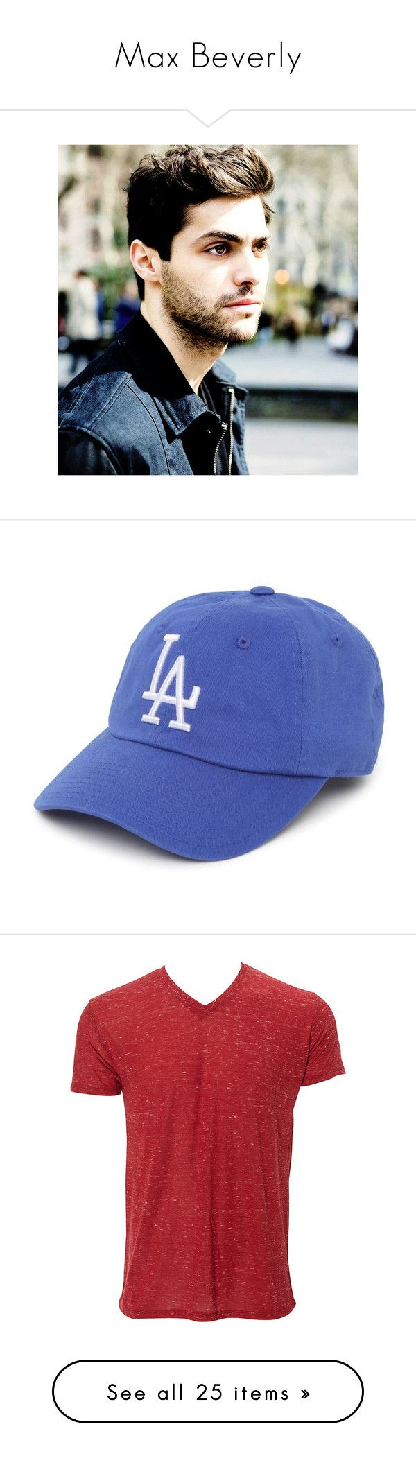 """Max Beverly"" by pianokeys2013 on Polyvore featuring accessories, hats, blue, dodgers baseball hat, baseball caps, la dodgers hat, ball cap hats, blue hat, men's fashion and men's clothing"