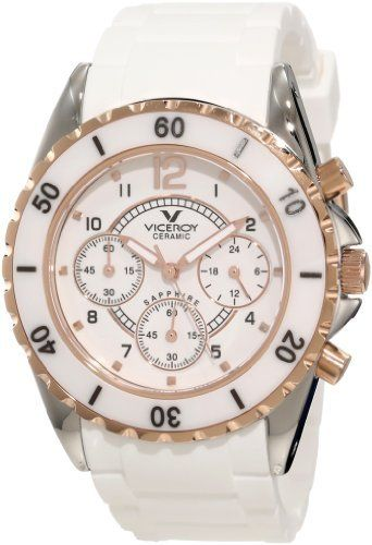 $212, White Ceramic Watch: Rosegold Viceroy 47562 95 White Ceramic Rose Gold Rubber Watch. Sold by Amazon.com.