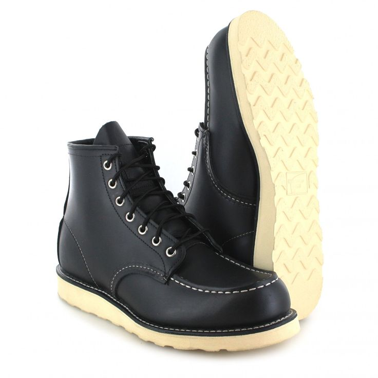Red Wing Shoes MOC TOE 8130 Black Schnürstiefel - schwarz