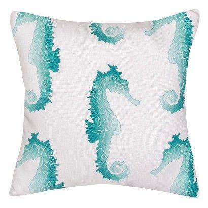 Jaipur Veranda Seahorse Decorative Pillow - Blue, seen on Jane the Virgin