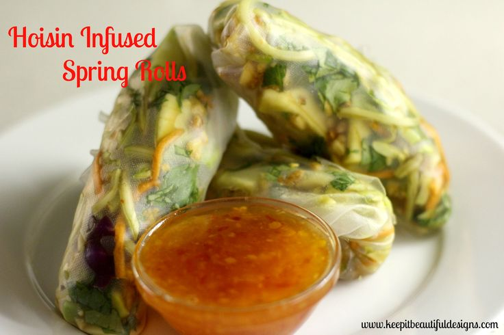 Hoisin Infused Spring Rolls