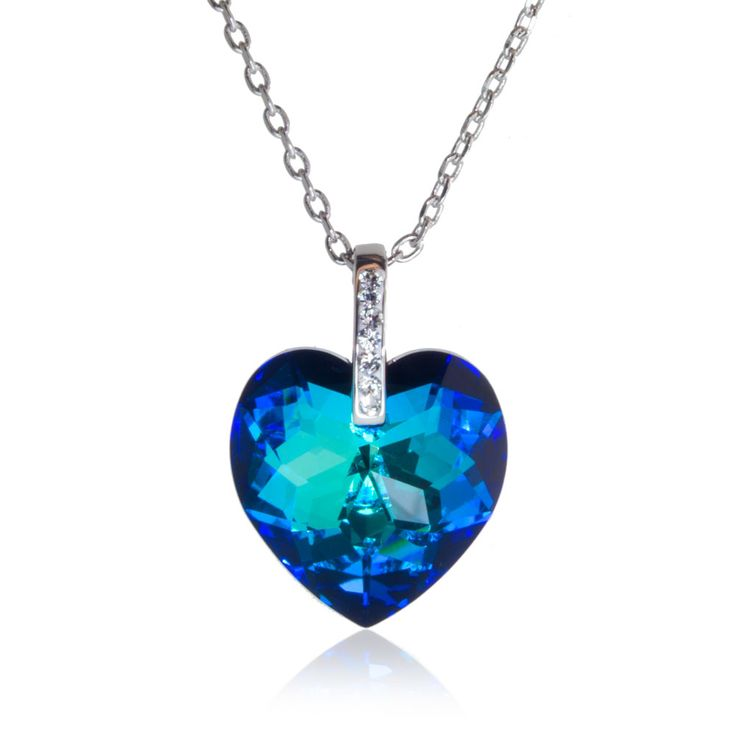 laguna heart necklace made with swarovski 174 crystals