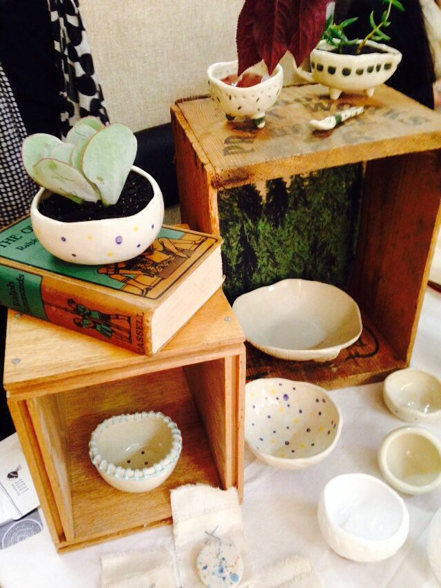 My first market stall! -Scout Ceramics