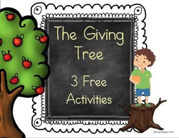 Freebie - The Giving Tree – A Common Core Unit Sample  The Giving Tree is a complex book with simple text.  If you have been looking for a way to help your students organize their thoughts and dive deeper into this classic book, check out this preview.