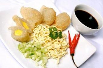 PEMPEK TELUR - a food snack from Palembang, South Sumatera - Indonesia.
