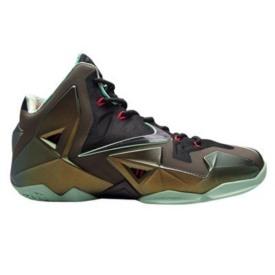 Nike LeBron XI GS Youth Basketball Shoe - Parachute Gold/Arctic Green/Dark Loden/Black