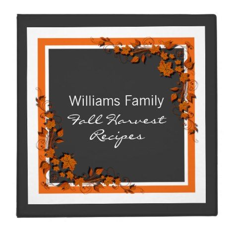 Autumn Swirls Thanksgiving Recipe Binder (2 inch) #thanksgiving #binders
