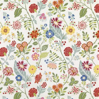 Amelie wallpaper comes in a bold and colorful design that is perfect in the hallway or in the living room!