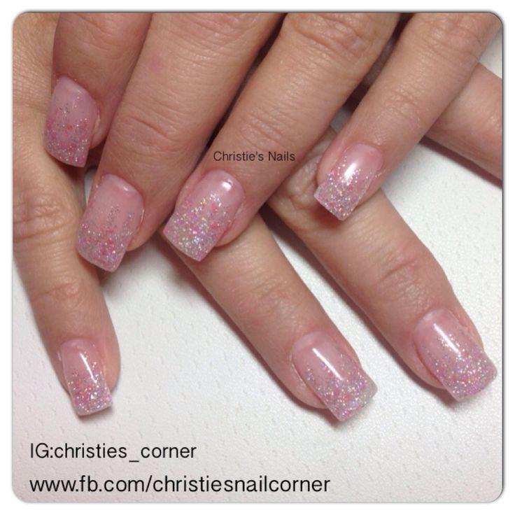 Sugar coated gel nails