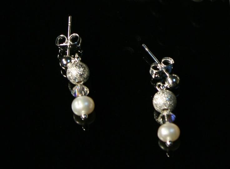 Azura - Cercei din perle de apa dulce si cristale Swarovski