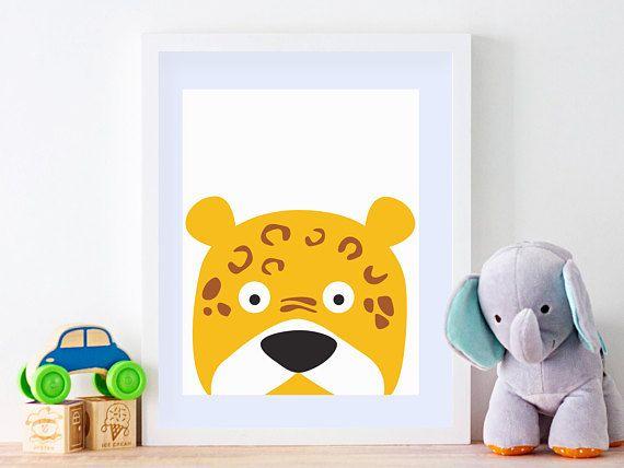 Nursery Prints, Kids Playroom Decor, Printable Wall Art, Leopard, Wall Art Kids, Indian Animals, Print Safari Animals, Baby Shower Gift