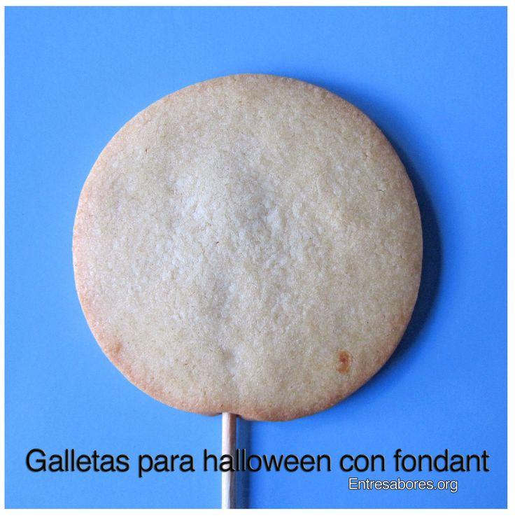 Galletas para Halloween con fondant